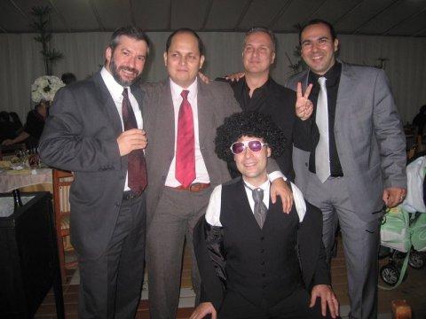 Thiago, Dú, Pesce, eu e o Joel (abaixado)