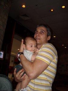 Arthur com o tio Luiz