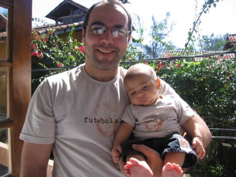 Papai e filhão no primeiro dia dos pais (09/08/09)
