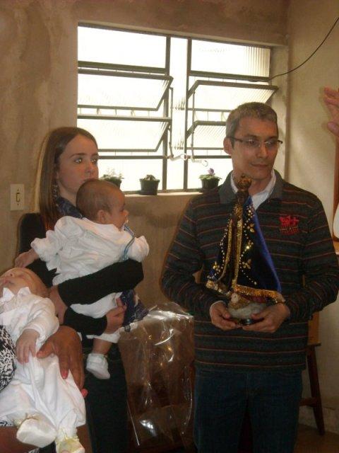 Tuti e Luiz - madrinha e padrinho de consagração