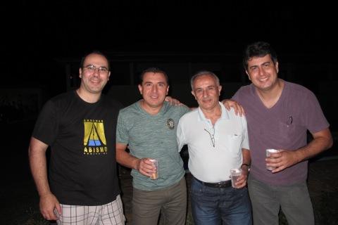 Papai, tio Cesar, vovo e tio Boy