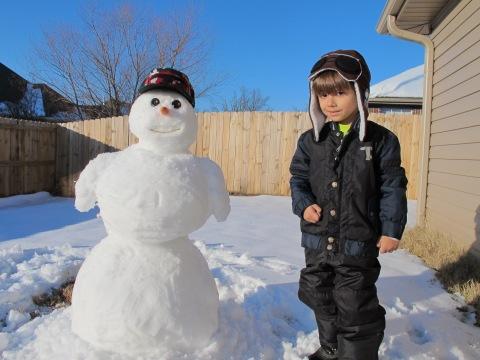 E nao podia faltar o boneco de neve!!!!