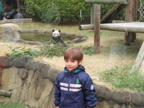 Arthur recepcionado pelo Panda...