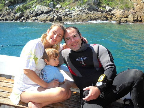 Acompanhando o papai mergulhador... Daqui a alguns anos vamos juntos!!!